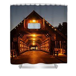 Frankenmuth Covered Bridge Shower Curtain by Pat Cook
