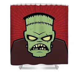 Frankenstein Monster Shower Curtain by John Schwegel