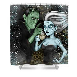 Frankenstien Fantasy Art Shower Curtain