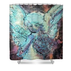 Franklin Angel Shower Curtain