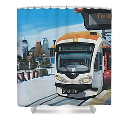 Franklin Avenue Station Shower Curtain by Jude Labuszewski
