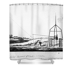 Franklin: Kite, 1788 Shower Curtain by Granger