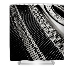 Franklin Piano Shower Curtain by Paul Wilford
