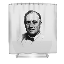Franklin Roosevelt Shower Curtain by War Is Hell Store