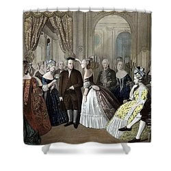 Franklin's Reception At The Court Of France Shower Curtain by War Is Hell Store