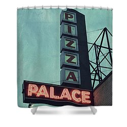 Shower Curtain featuring the photograph Frank's Pizza Palace by Joel Witmeyer
