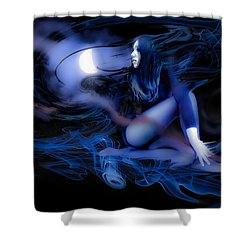 Shower Curtain featuring the photograph Fran's Ecliptic Moon by Glenn Feron