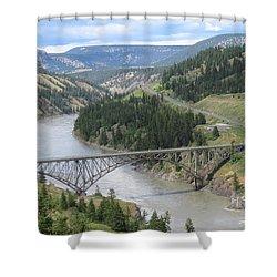 Fraser River Bridge Near Williams Lake Shower Curtain