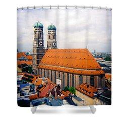 Frauenkirche Munich  Shower Curtain by Kevin Smith
