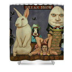 Freak Show Shower Curtain by Leah Saulnier The Painting Maniac
