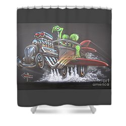Freakwentflying Shower Curtain by Alan Johnson