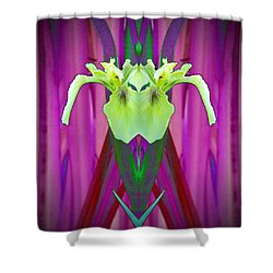 Freaky Iris Shower Curtain