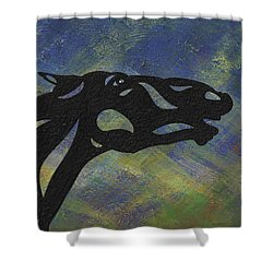 Fred - Abstract Horse Shower Curtain