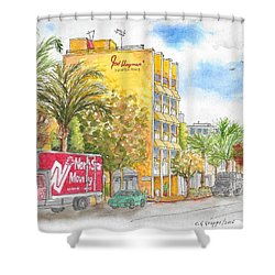 Fred Hayman Building, Cannon Dr And Clifton, Beverly Hills, Ca Shower Curtain
