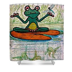 Fred The Frog With Friends Shower Curtain
