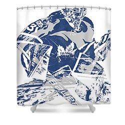 Frederik Andersen Toronto Maple Leafs Pixel Art 2 Shower Curtain