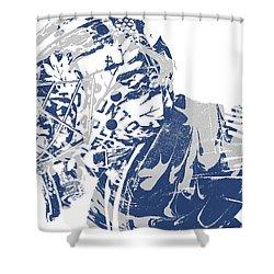 Frederik Andersen Toronto Maple Leafs Pixel Art 3 Shower Curtain
