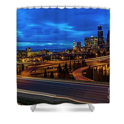 Freeway 5 North To Seattle Shower Curtain