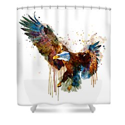 Free And Deadly Eagle Shower Curtain