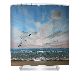 Free As A Bird Shower Curtain by Paul Newcastle