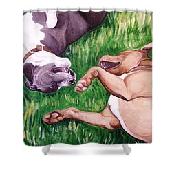 Shower Curtain featuring the painting Free Fallin' by Laura Aceto