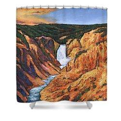 Free Falling Shower Curtain