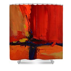 Shower Curtain featuring the painting Free Mind - Art By Elise Palmigiani by Elise Palmigiani