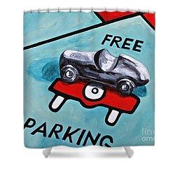 Free Parking Shower Curtain by Herschel Fall