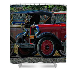 Free Parking Shower Curtain by Janice Westerberg