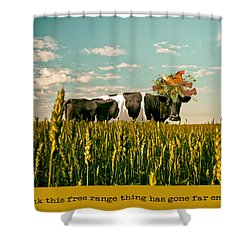 Shower Curtain featuring the photograph Free Range Chicken by James Bethanis