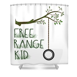 Free Range Kid Shower Curtain