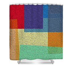 Free Squares - Part Six Shower Curtain