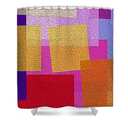 Free Squares - Part Three Shower Curtain