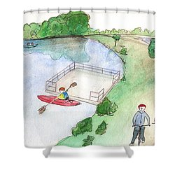 Free Time Shower Curtain
