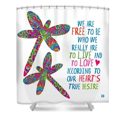 Shower Curtain featuring the painting Free To Be by Lisa Weedn