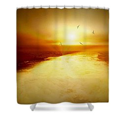 Freedom Escape Shower Curtain by Linda Sannuti