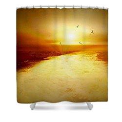 Freedom Escape Shower Curtain by Linda Sannuti