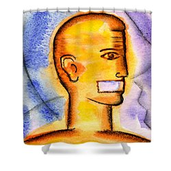 Shower Curtain featuring the painting Freedom Of Press  by Leon Zernitsky