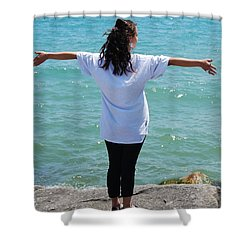 Shower Curtain featuring the photograph Freedom by Ramona Whiteaker