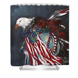 Freedom Rings Shower Curtain