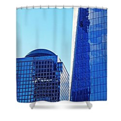 Shower Curtain featuring the photograph Freedom Tower And 2 World Financial Center by Sarah Loft