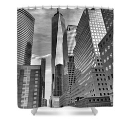 Shower Curtain featuring the photograph Freedom Tower by Joan Reese