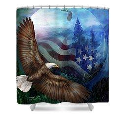 Freedom's Flight Shower Curtain by Carol Cavalaris