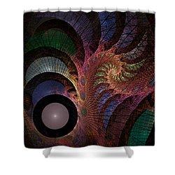 Freefall - Fractal Art Shower Curtain by NirvanaBlues