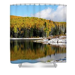 Freeman Lake In Northwest Colorado In The Fall Shower Curtain