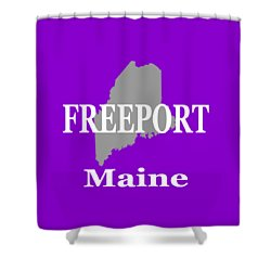 Shower Curtain featuring the photograph Freeport Maine State City And Town Pride  by Keith Webber Jr
