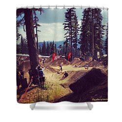 Freestyling Mtb Shower Curtain