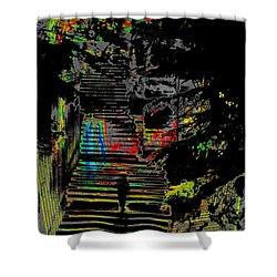 Freeway Park Steps Shower Curtain by Tim Allen