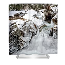 Freeze On The Basin Trail Nh Shower Curtain