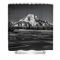 Freeze-up Shower Curtain